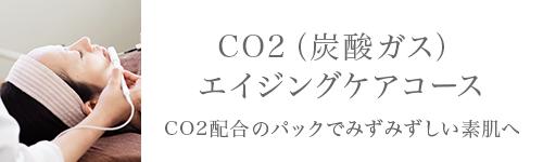 CO2(炭酸ガス)エイジングケアコース。CO2配合のパックでみずみずしい素肌へ